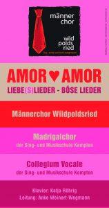 Konzert Männerchor   Amor Amor LIEBE(S)LIEDER – BÖSE LIEDER