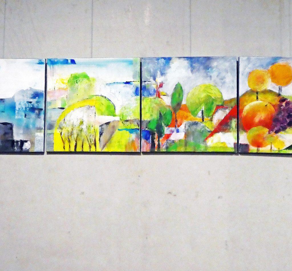 Kunstausstellung, kunstvolle Bilder