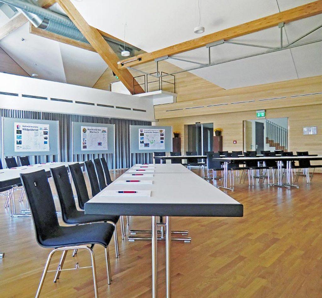 Großer Tagungsraum im Allgäu, Dorfsaal im Energiehotel Kultiviert